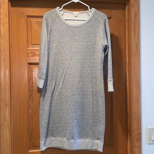J Crew women's size M gray sweatshirt dress